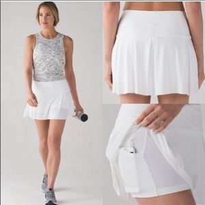 Lululemon Lost In Pace Tennis Skirt Skort Size 6